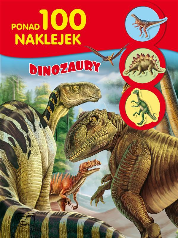 100 NAKLEJEK DINOZAURY /32 str/
