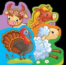 KSIĄŻECZKA KĄPIELOWA (wycięte kształty) - Zwierzęta wiejskie